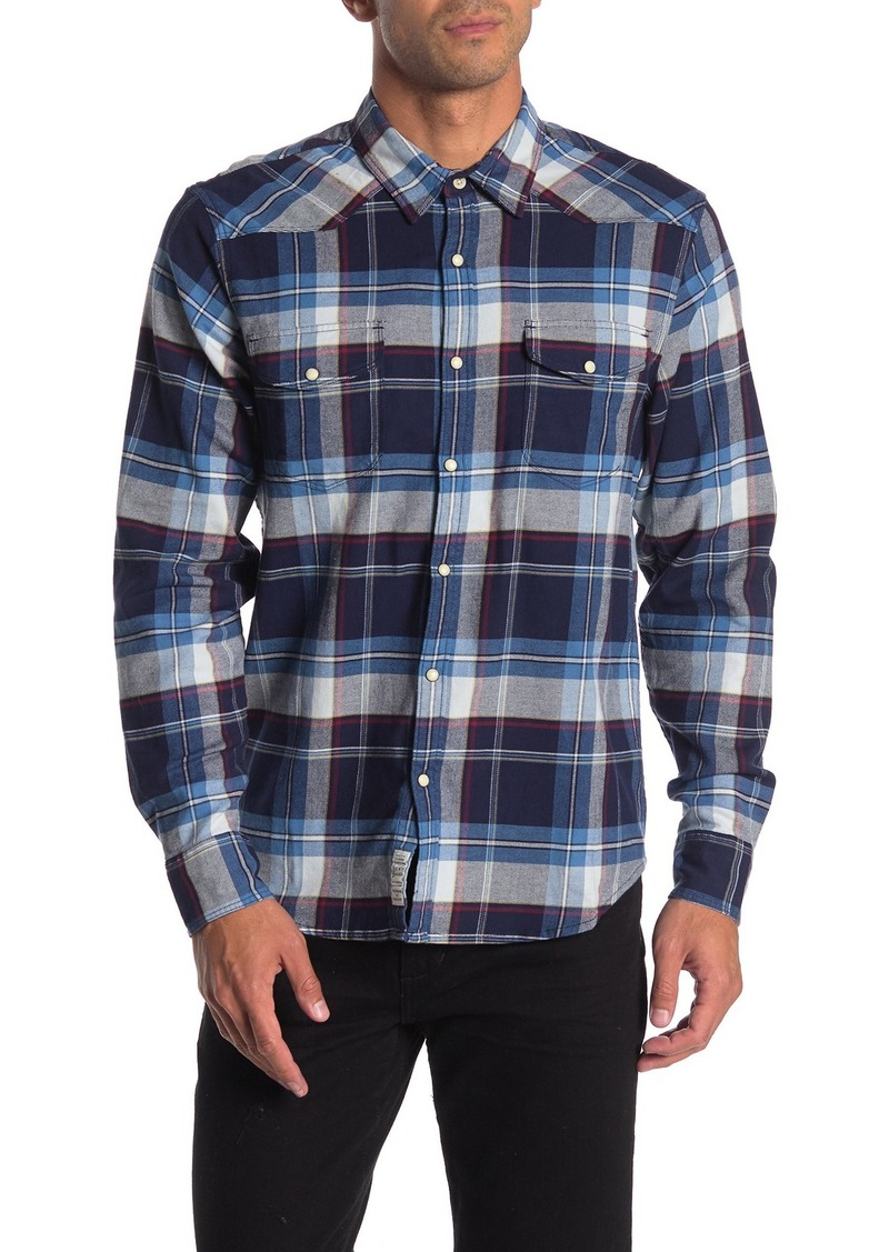 Lucky Brand Santa Fe Western Regular Fit Long Sleeve Shirt