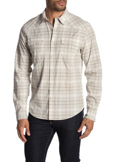 Lucky Brand Santa Fe Western Plaid Long Sleeve Classic Fit Shirt
