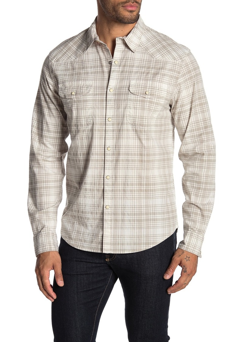 Lucky Brand Santa Fe Western Plaid Long Sleeve Classic Fit Shirt