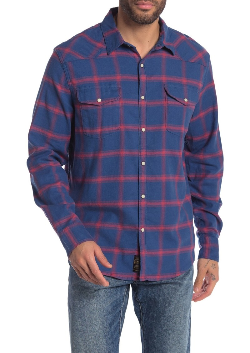 Lucky Brand Santa Fe Western Plaid Regular Fit Shirt