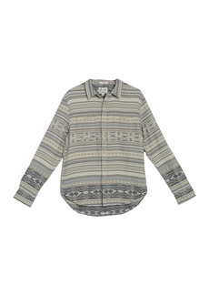 Lucky Brand Santa Fe Western Print Classic Fit Shirt