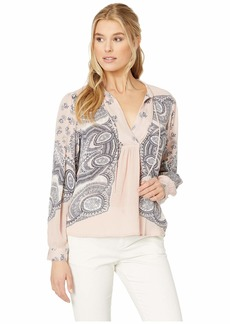 Lucky Brand Scarf Paisley Peasant Top