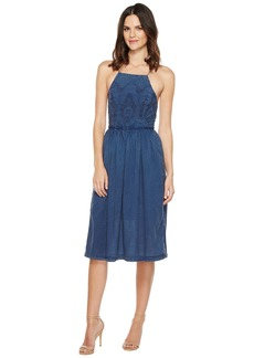 Lucky Brand Schiffli Bib Dress