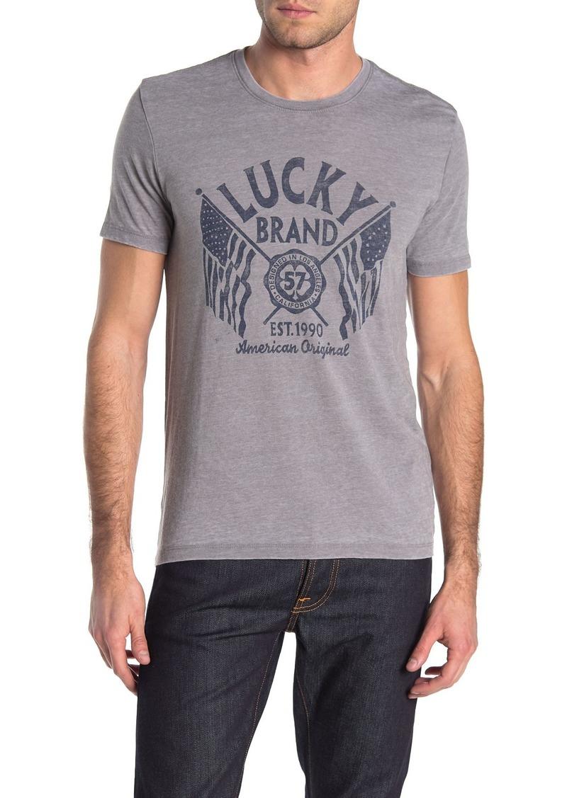 Lucky Brand Seal Flags T-Shirt