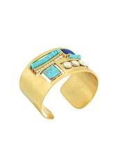 Lucky Brand Set Stone Cuff Bracelet