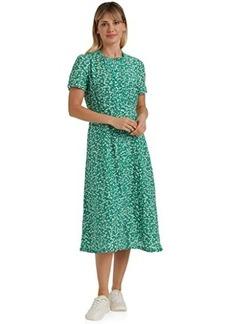Lucky Brand Short Sleeve Scoop Neck Scalloped Hem Penelope Dress
