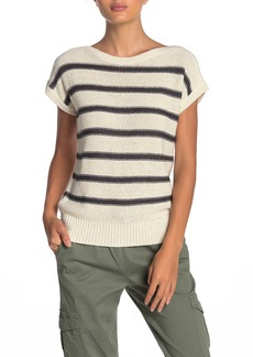 Lucky Brand Short Sleeve Stripe Pullover