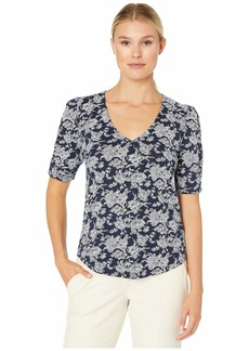 Lucky Brand Short Sleeve V-Neck Top