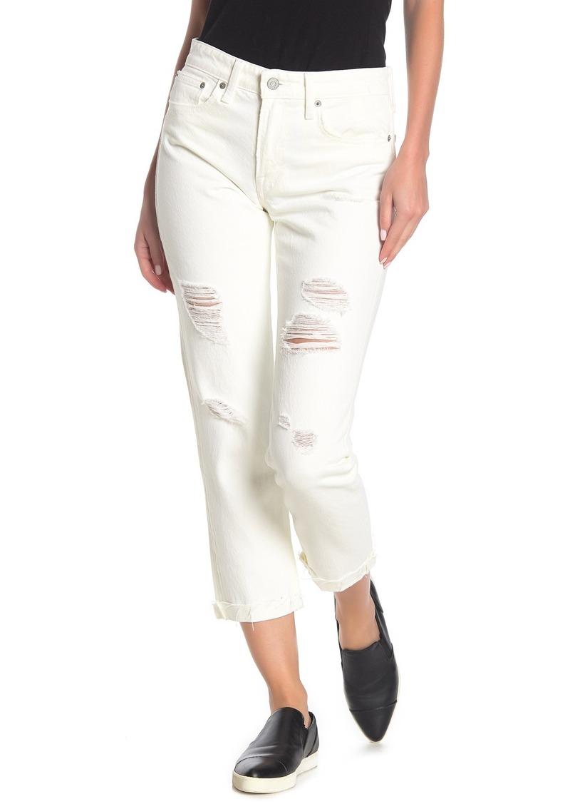 Lucky Brand Sienna Destroyed Slim Boyfriend Jeans