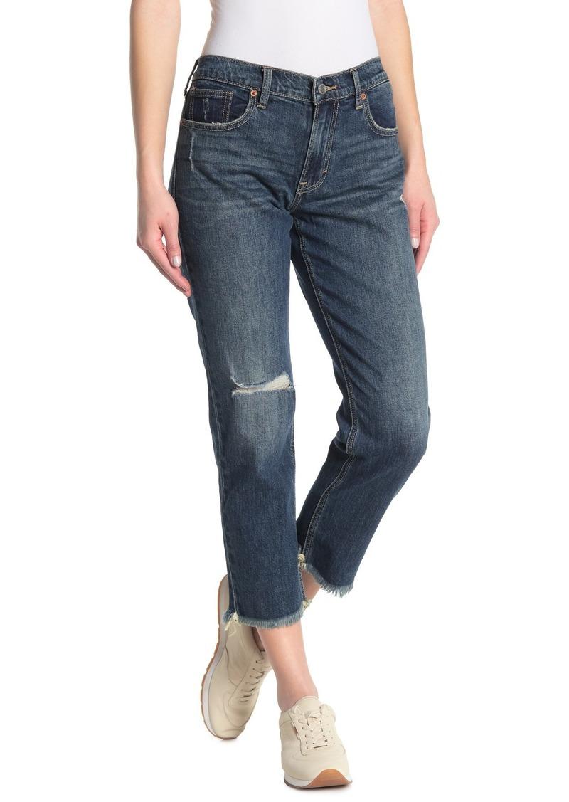 Lucky Brand Sienna Distressed Slim Crop Boyfriend Jeans