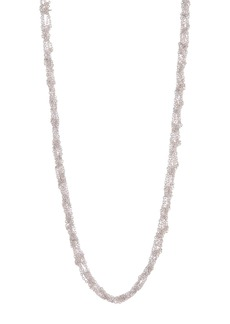 Lucky Brand Silver-Tone Woven Chain Necklace