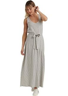 Lucky Brand Sleeveless Crew Neck Eliza Belted Maxi Dress