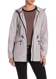 Lucky Brand Solid Hooded Windbreaker Jacket