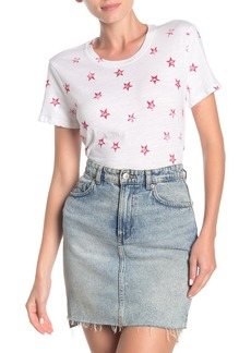 Lucky Brand Star Print Crew Neck T-Shirt