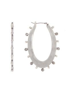 Lucky Brand Stone Oval Hoop Earrings