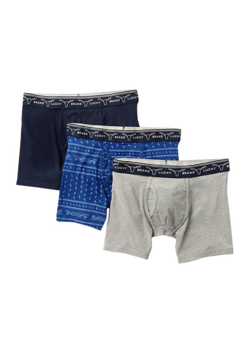 Lucky Brand Stretch Boxer Briefs - Pack of 3