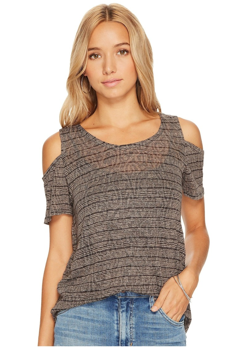 09dd6982d57d35 Lucky Brand Stripe Cold Shoulder Top