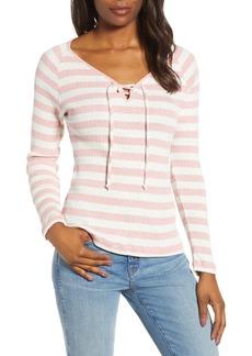 Lucky Brand Stripe Henley T-shirt
