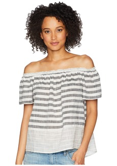 Lucky Brand Stripe Off Shoulder Top