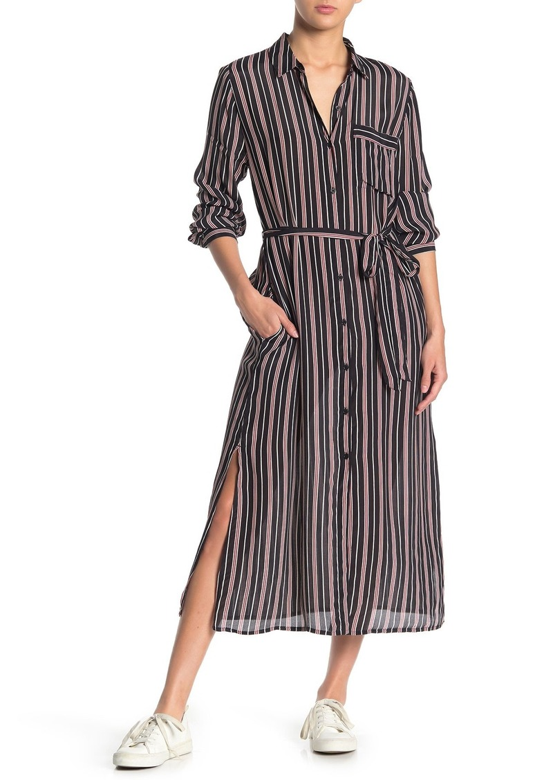 Lucky Brand Stripe Pocket Shirt Dress