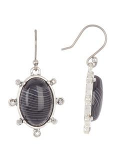 Lucky Brand Striped Agate Drop Earrings