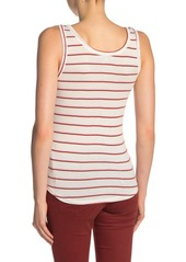 Lucky Brand Striped Button Tank Top