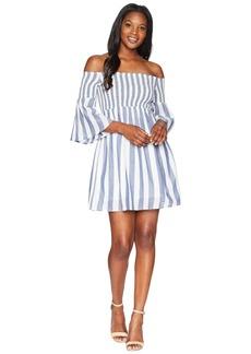 Lucky Brand Striped Smocked Dress