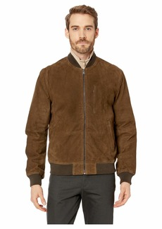 Lucky Brand Suede Leather Bomber Jacket