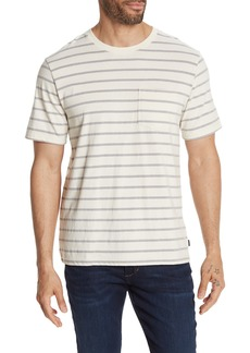 Lucky Brand Sunset Short Sleeve Striped Pocket Crew Neck Tee