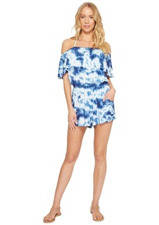 Lucky Brand Take It East Off the Shoulder Romper Cover-Up