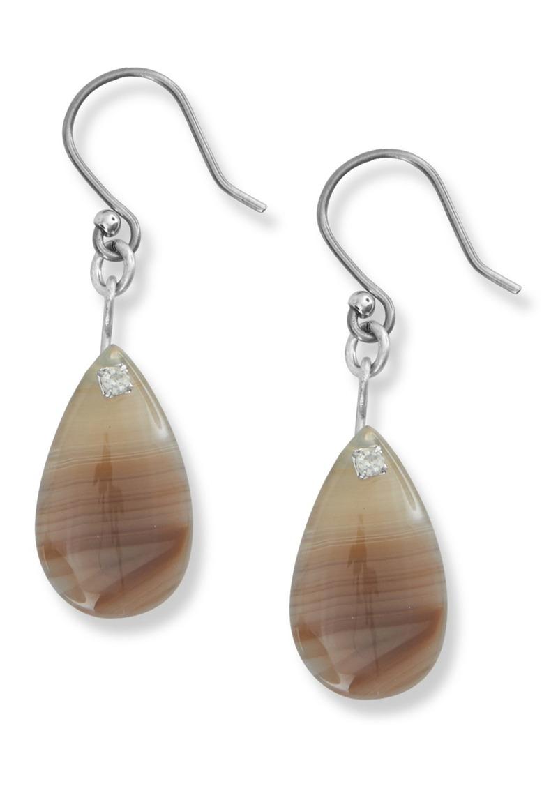 Lucky Brand Teardrop Agate Drop Earrings