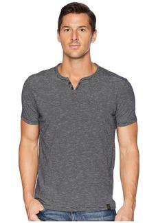 Lucky Brand Textured Stripe Notch Neck Shirt