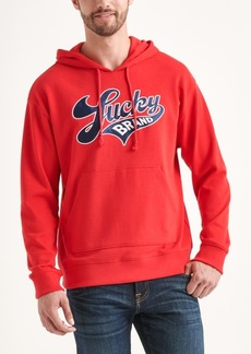 Lucky Brand Totally Lucky Unisex Brand Script Hooded Sweatshirt