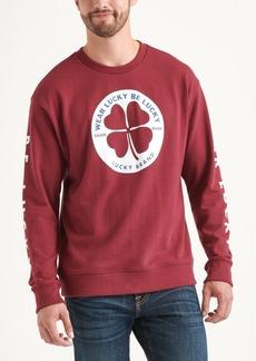 Lucky Brand Totally Lucky Unisex Clover Circle Crew Sweatshirt