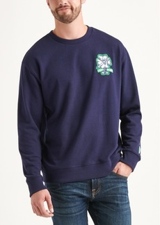 Lucky Brand Totally Lucky Unisex Hap Patch Crew Sweatshirt