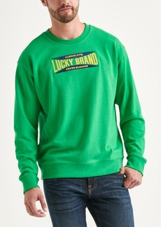 Lucky Brand Totally Lucky Unisex Stretch Logo Crew Sweatshirt