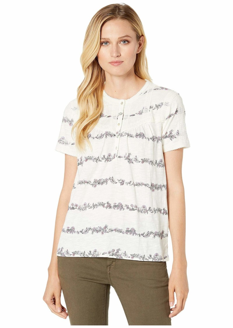 Lucky Brand Trim Pullover Top
