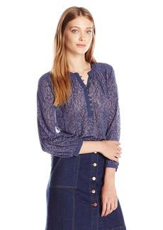Lucky Brand ucky Brand Women's Novelty Mixed Knit Top  arge