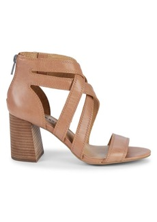 Lucky Brand Vyrah Strappy Leather Heeled Sandals