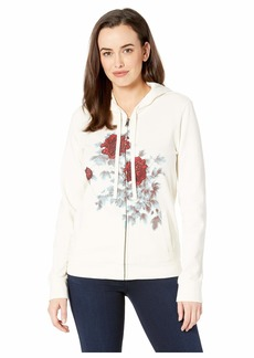 Lucky Brand Water Color Floral Hooded Sweatshirt