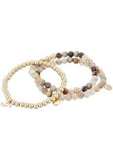 Lucky Brand White Agate Beaded Bracelet