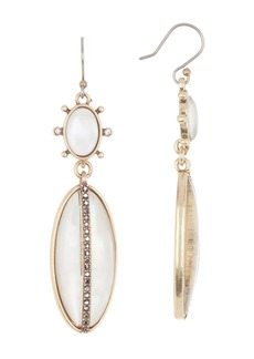 Lucky Brand White Mother of Pearl Drop Earrings