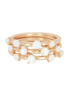 Lucky Brand White Mother of Pearl Ring Set