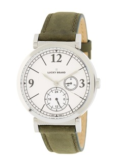 Lucky Brand Women's Carmel Olive Leather Strap Watch, 38mm