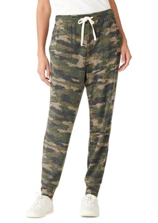 Women's Lucky Brand Camo Print Brushed Hacci Joggers