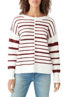 Women's Lucky Brand Drop Shoulder Textured Stripes Sweater