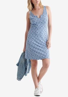 Lucky Brand Women's Scallop Notch Midi Dress