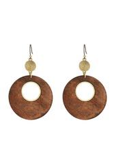 Lucky Brand Wood Circle Drop Earrings
