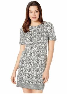 Lucky Brand Woodblock Print T-Shirt Dress