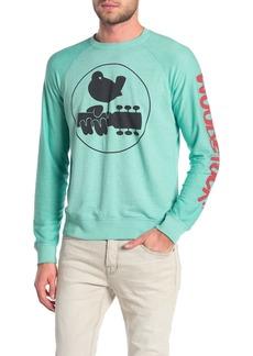 Lucky Brand Woodstock Logo Crew Neck Pullover